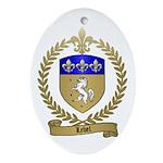 LEBEL Family Crest Oval Ornament