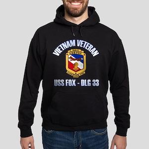 USS Fox Vietnam Vet Hoodie (dark)