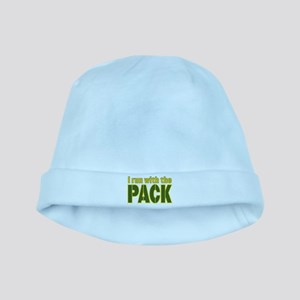 I run with the Pack baby hat