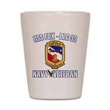 USS Fox Shot Glass