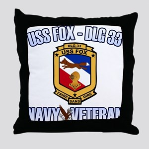 USS Fox Throw Pillow
