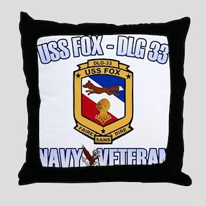USS Fox Throw Pillow
