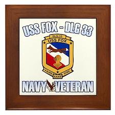 USS Fox Framed Tile