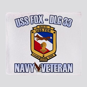 USS Fox Throw Blanket