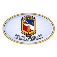 USS Fox Sticker (Oval)