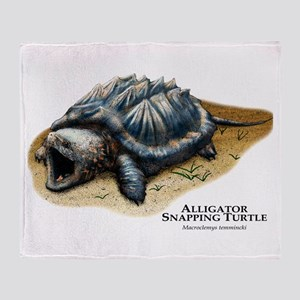 Alligator Snapping Turtle Throw Blanket