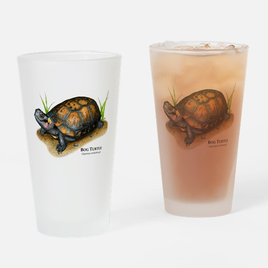 Bog Turtle Drinking Glass