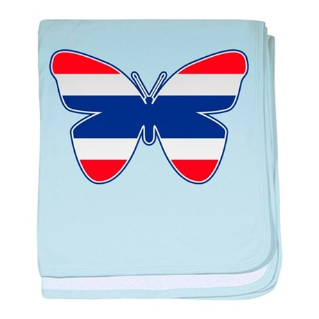Thai Butterfly Flag Silhouette baby blanket