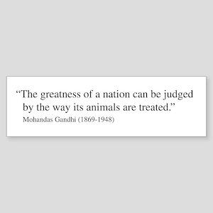 Gandhi quote Bumper Sticker