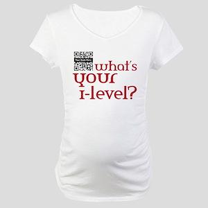 Custom QR What's your i-lvl? Maternity T-Shirt