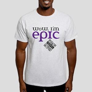 Custom QR WoW, I'm Epic Light T-Shirt