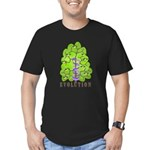 Evolution Men's Fitted T-Shirt (dark)