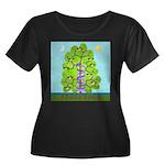 Evolution Women's Plus Size Scoop Neck Dark T-Shir