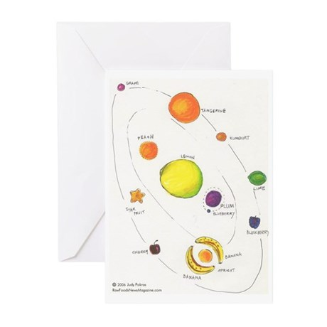 Raw Foods Solar System Greeting Cards (Pk of 20)