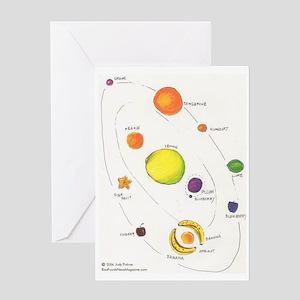 Raw Foods Solar System Greeting Card
