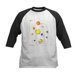 Raw Foods Solar System Kids Baseball Jersey