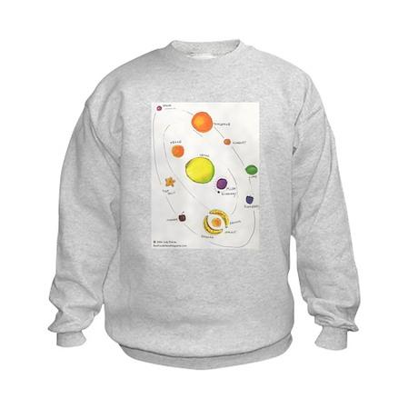 Raw Foods Solar System Kids Sweatshirt