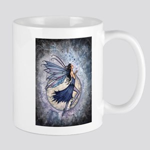Midnight Blue Fairy Fantasy Art Mug
