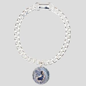 Midnight Blue Fairy Fant Charm Bracelet, One Charm