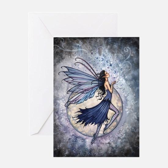 Midnight Blue Fairy Fantasy Art Greeting Card