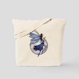 Midnight Blue Fairy Fantasy Art Tote Bag