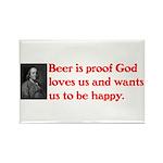 Ben Franklin: Beer Quote Rectangle Magnet (10 pack