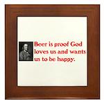 Ben Franklin: Beer Quote Framed Tile