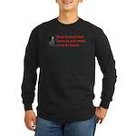 Ben Franklin: Beer Quote Long Sleeve Dark T-Shirt