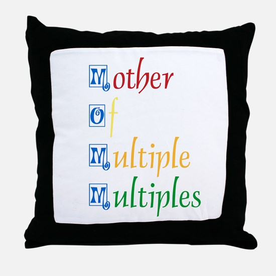 Mother of Multiple Multiples Throw Pillow