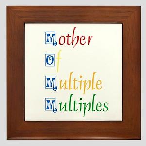 Mother of Multiple Multiples Framed Tile