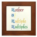 Mother of Multiple Multiples Framed Tile