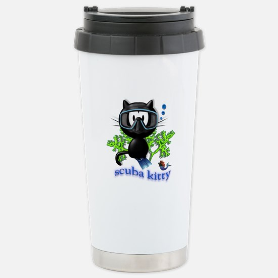 scuba kitty Stainless Steel Travel Mug