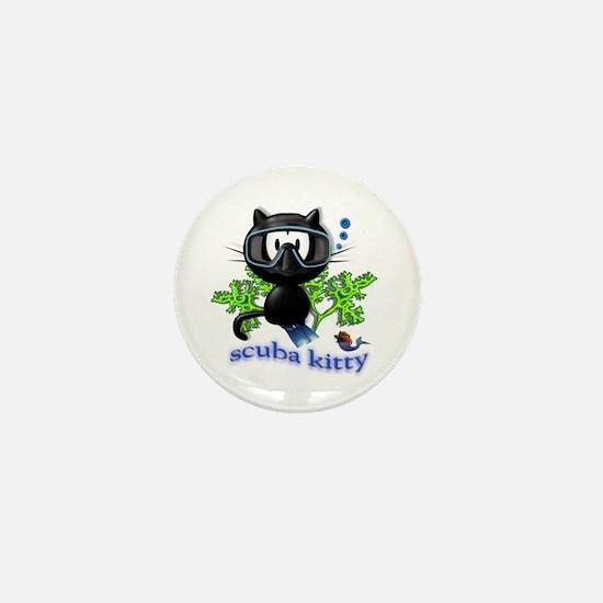 scuba kitty Mini Button