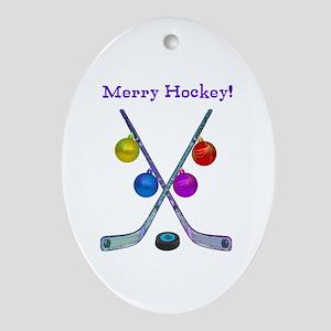 ornament oval - Hockey Christmas Ornaments