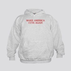 Cute America (red) - Kids Hoodie Sweatshirt