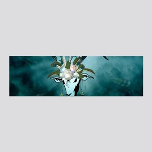 The billy goat with feathers and flowers Wall Deca