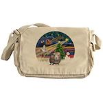 XmasMagic-GuineaPig2 Messenger Bag