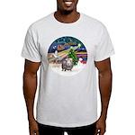 XmasMagic-GuineaPig2 Light T-Shirt