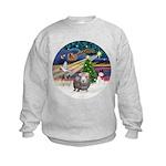 XmasMagic-GuineaPig2 Kids Sweatshirt