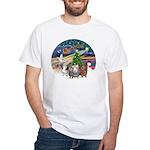 XmasMagic-3 GuineaPigs White T-Shirt