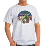 XmasMagic-3 GuineaPigs Light T-Shirt
