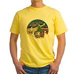 XmasMagic-3 GuineaPigs Yellow T-Shirt