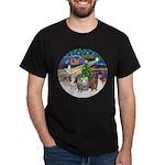 XmasMagic-3 GuineaPigs Dark T-Shirt