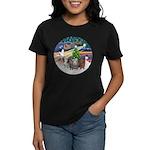 XmasMagic-3 GuineaPigs Women's Dark T-Shirt