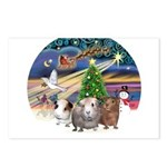 XmasMagic-3 GuineaPigs Postcards (Package of 8)