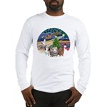 XmasMagic-3 GuineaPigs Long Sleeve T-Shirt