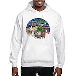XmasMagic-3 GuineaPigs Hooded Sweatshirt