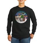 XmasMagic-3 GuineaPigs Long Sleeve Dark T-Shirt