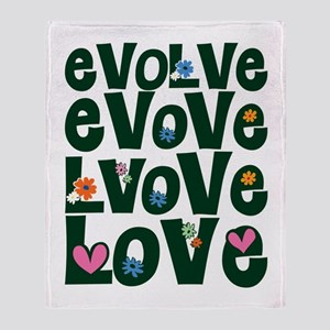 Evolve Whimsical Love Throw Blanket