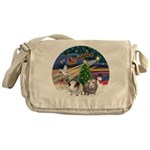 XmasMagic-2 Guinea Pigs Messenger Bag